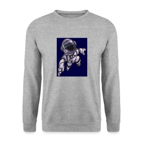Leaping Astronaut on Blue - Unisex Sweatshirt