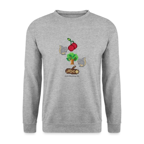 8 Bit Style Cherry Tree Wood Graphic - Unisex Sweatshirt