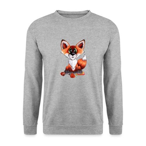 llwynogyn - a little red fox - Unisex svetaripaita