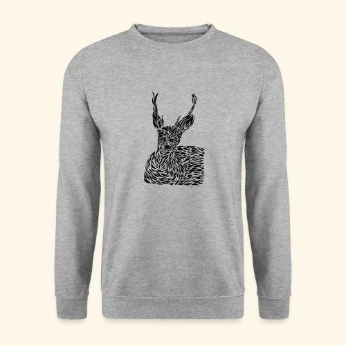 deer black and white - Unisex svetaripaita