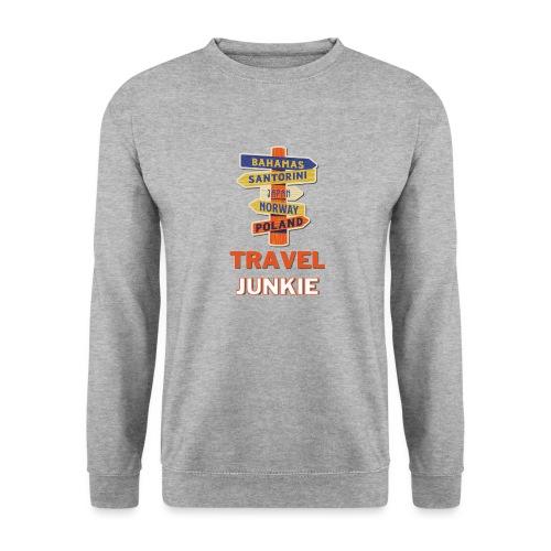 traveljunkie - i like to travel - Unisex Pullover