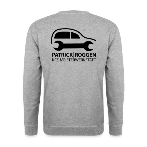 patrick logogr final schwarz kopie - Unisex Pullover