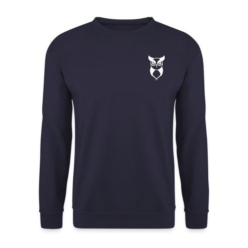 Owl logo white - Men's Sweatshirt