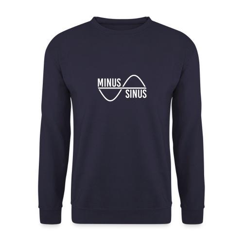 Minus Sinus Logo für dunklen Hintergrund - Männer Pullover