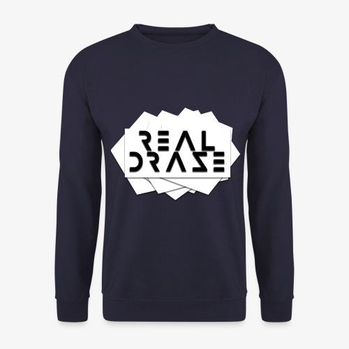 RealDraze logo weiß mit schwarzer schrift png - Unisex Pullover