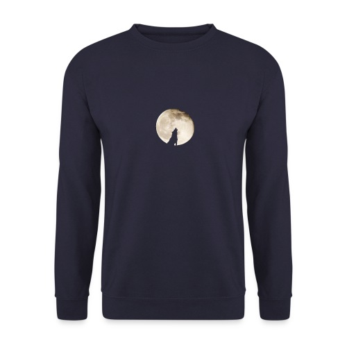 The wolf with the moon - Sweat-shirt Unisex