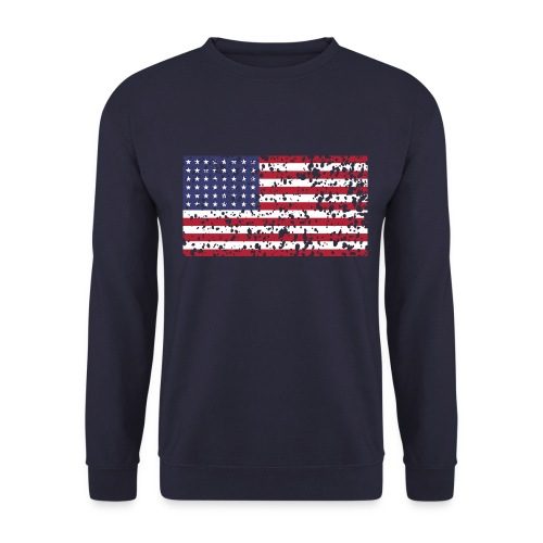 AVM WWII Trashed 48 star flag in color D'Day - Unisex sweater