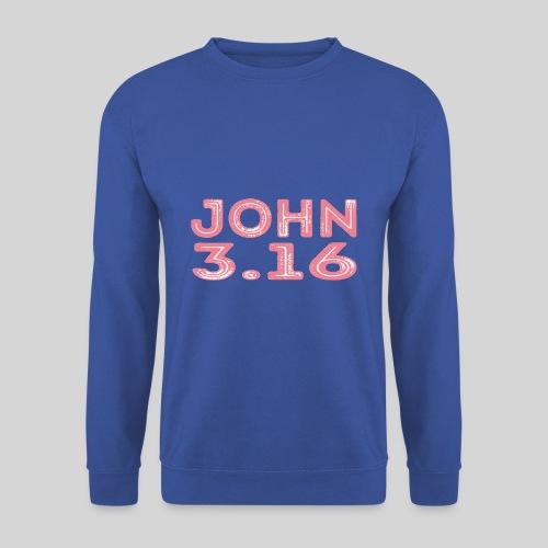 Johannes 3 Vers 16 Bibelversdesign - Männer Pullover