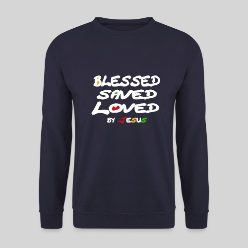 Blessed Saved Loved by Jesus - Männer Pullover