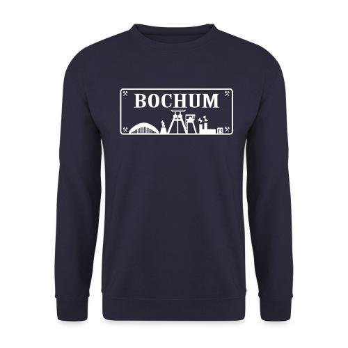 Schild mit Bochumer Skyline - Männer Pullover