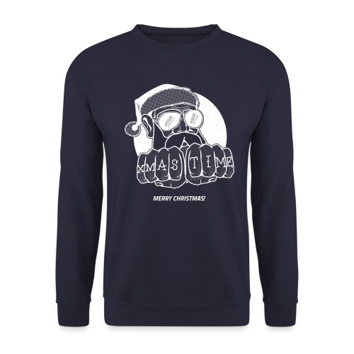 PAPY XMAS TIME BLANC - Sweat-shirt Unisex