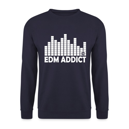 EDM addict White.png - Men's Sweatshirt