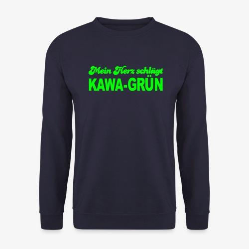 Mein Herz schlägt KAWA GRÜN - Unisex Pullover
