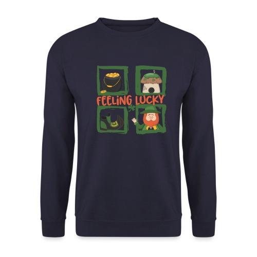 feeling lucky - stay happy - St. Patrick's Day - Men's Sweatshirt