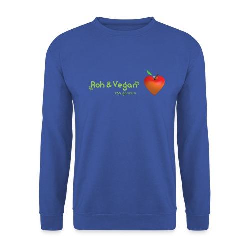 Roh & Vegan rotes Apfelherz (Rohkost) - Männer Pullover