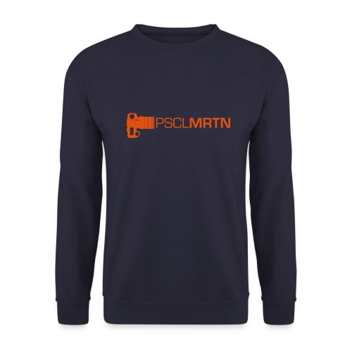 Black on Black with Orange Neck - Männer Pullover
