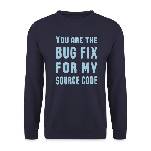 Programmierer Beziehung Liebe Source Code Spruch - Unisex Pullover