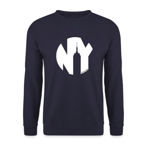 Logo French Yorker blanc - Sweat-shirt Homme