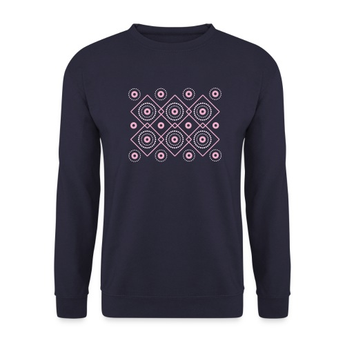 pink geometric print - Bluza męska