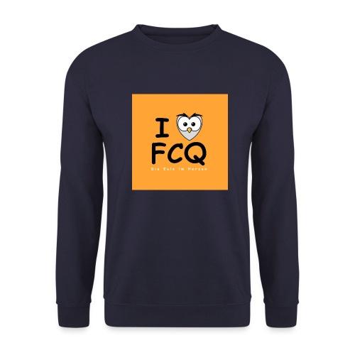 I Love FCQ button orange - Männer Pullover
