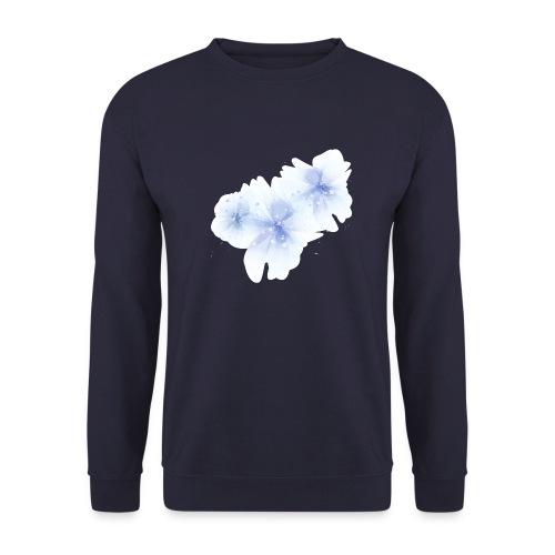 blue flowers - Bluza męska