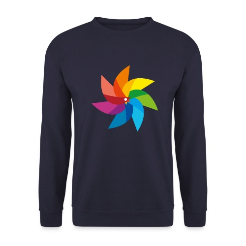bunte Windmühle Kinderspielzeug Regenbogen Sommer - Men's Sweatshirt