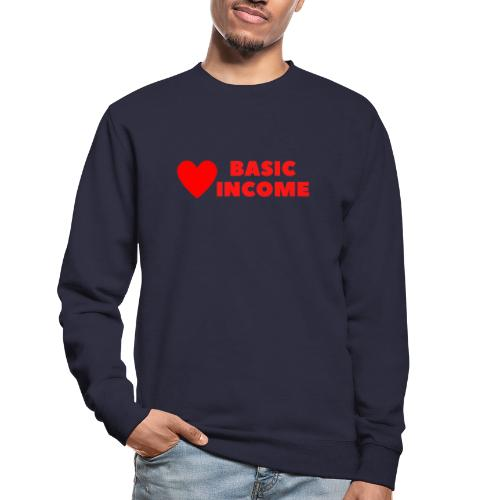 basic income red trans - Unisex sweater