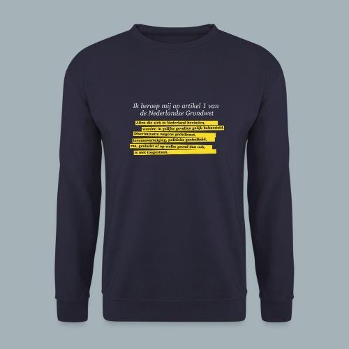 Nederlandse Grondwet T-Shirt - Artikel 1 - Unisex sweater