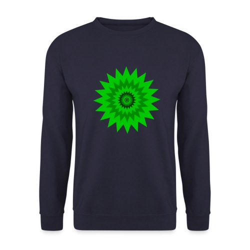 Grüne Sonne - Männer Pullover