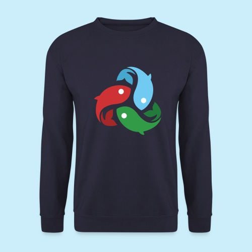 De fiskede fisk - Herre sweater