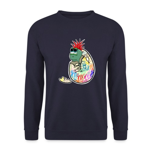 Punk Graffiti Bebe Schildkröte / Baby Dino Turtle - Unisex Pullover