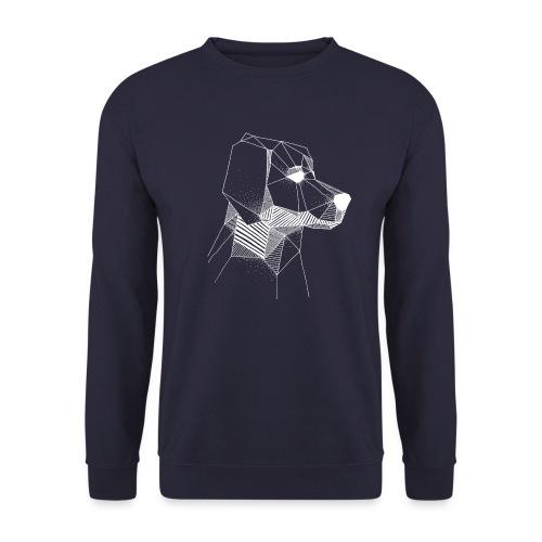 Golden Retriever Geometrisch Wit - Unisex sweater
