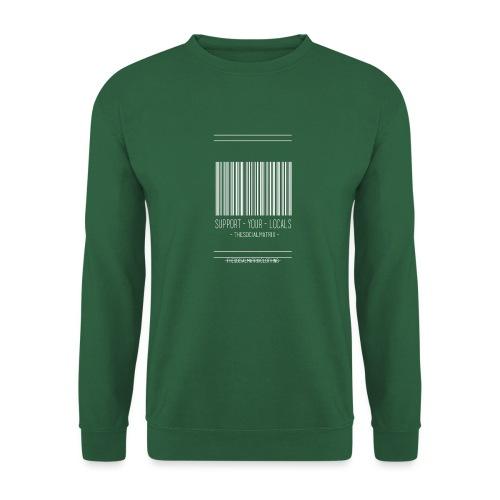 STEUN JE PLAATSELIJKE [WIT] - Unisex sweater
