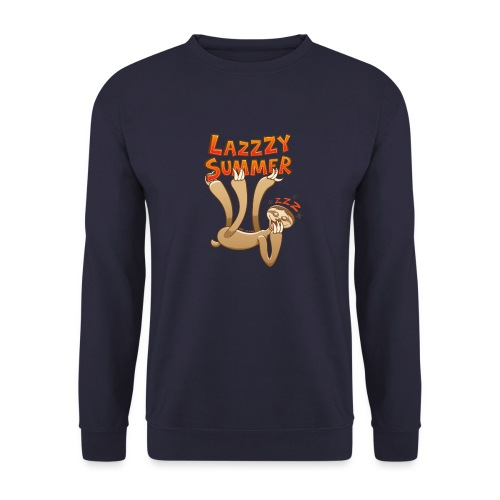 Sleepy sloth yawning and enjoying a lazy summer - Unisex Sweatshirt