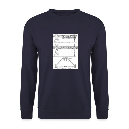 Schwebebahnskizze - Männer Pullover