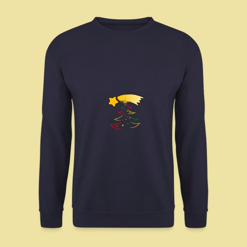 Weihnachtsbaum mit einer Sternschnuppe - Männer Pullover