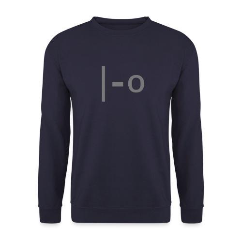 Emoticon Gähn – einfarbig - Unisex Pullover