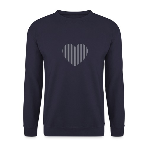 heart_striped.png - Unisex Sweatshirt