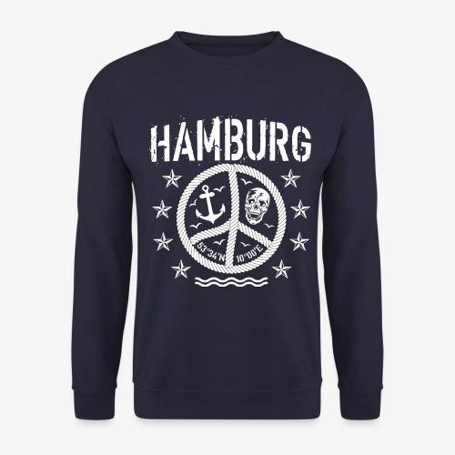 105 Hamburg Peace Anker Seil Koordinaten - Unisex Pullover