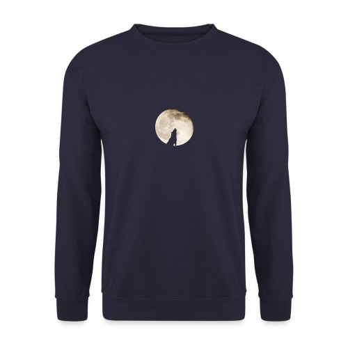 The wolf with the moon - Sweat-shirt Unisexe