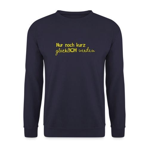 nurnochkurz schriftzug gelb 2 - Unisex Pullover