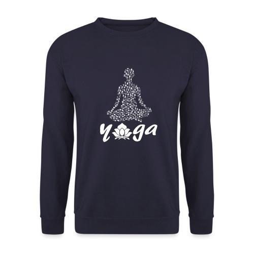 yoga fiore bianco namaste pace amore hippie fitness - Felpa unisex