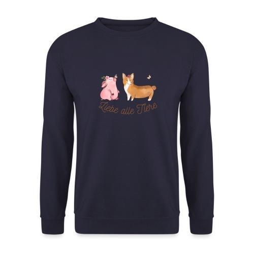 Liebe alle Tiere - Unisex Pullover