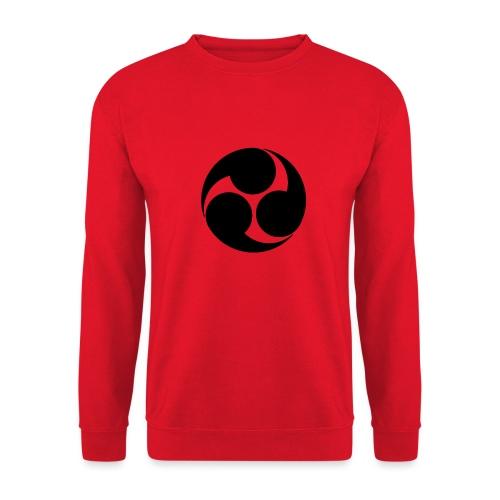 Kobayakawa Mon Japanese clan black - Unisex Sweatshirt