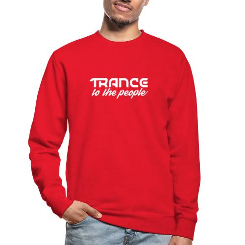 Trance to the People Hvidt Logo - Unisex sweater