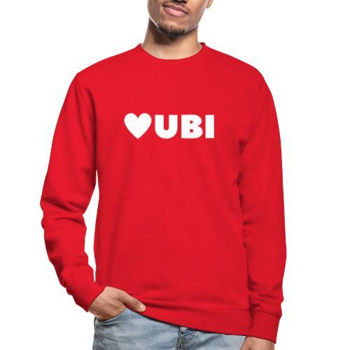 love ubi white trans - Unisex sweater