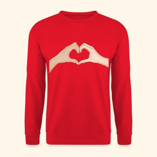 Mains Coeur Amour - Love hands - Sweat-shirt Unisexe