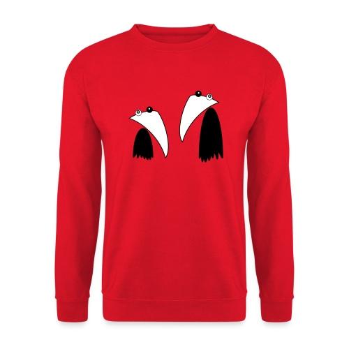 Raving Ravens - black and white 1 - Sweat-shirt Unisexe