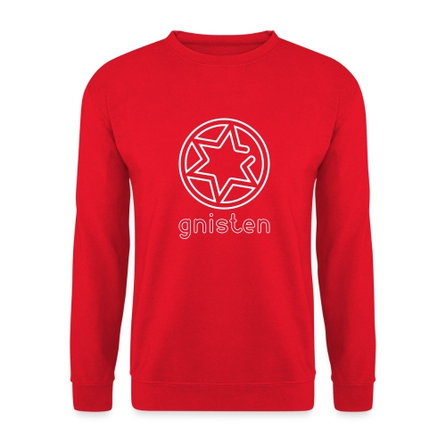 Gniste Ry (hvidt tryk - vertikalt) - Unisex sweater