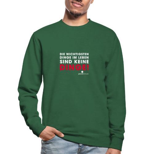Dinge weiße Schrift - Unisex Pullover